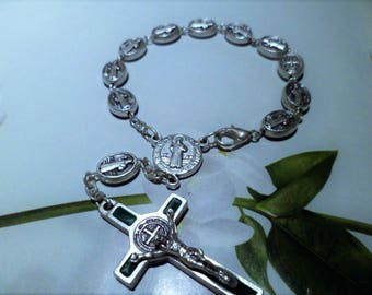 Rosary silver 16 cm