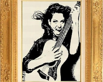 Celebrity Tal counted cross stitch