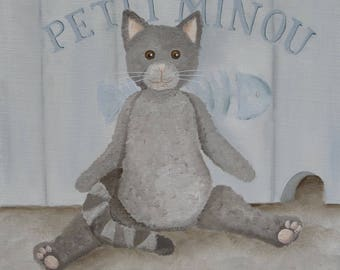 CANVAS Kitty for child's room - Ref. Little Kitty