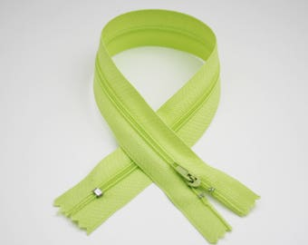 Zip closure, 35 cm, pastel green, not separable
