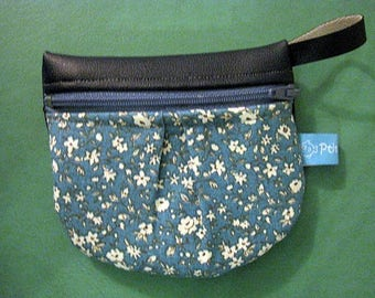 coin purse small blue flowers