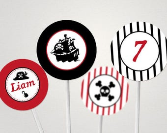 Toppers to print, decoration for cakes theme: pirate!