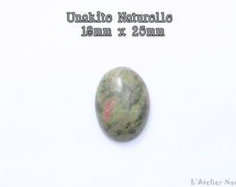 Oval cabochon of unakite natural 18mm x 25mm
