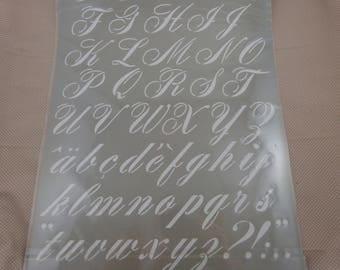 "Stencil ""alphabet"" plastic stencil"