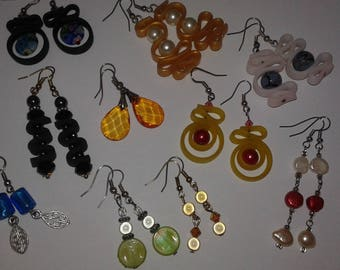 mixed 10 pairs of earrings