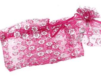 Packaging organza rose flower 10X11.5 cm pouch bag