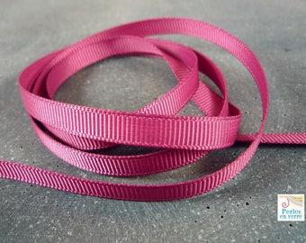 2 meters Ribbon pink 7mm old grain (fil62)