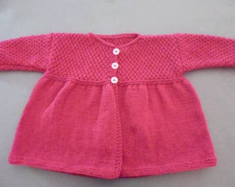 Hand knitted Cardigan/jacket/coat baby 12 months
