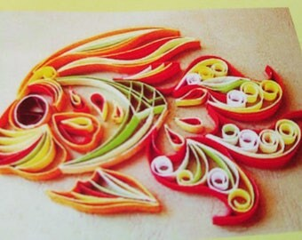 listing for quilling, model paperole fish, koi carp
