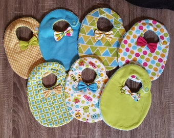 Little monster bibs with bow tie for boy