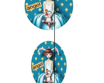 glass 20mm Cabochons craft Angel