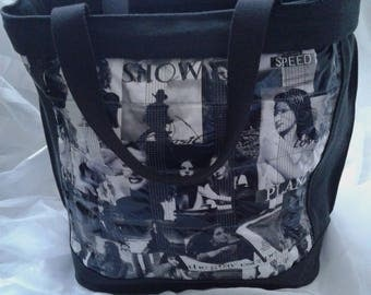purse jeans black with fabric picture