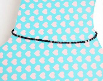 Shaman - Adjustable Anklet with miyuki delica beads