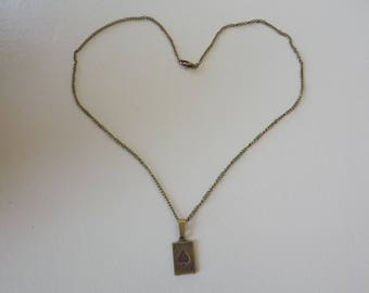 Bronze ACE of hearts necklace