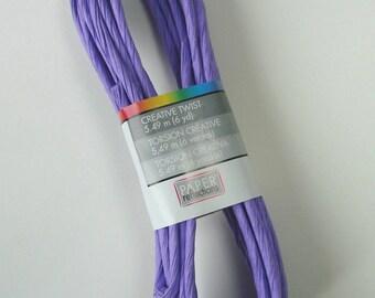 Skein of 5.49 meters of cord, paper, twisting twine, purple, 5 mm.