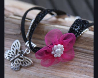 "Bracelet ""beautiful pink and black"""