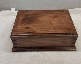Hand Crafted Solid Walnut Jewelry Box