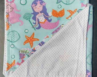 Mermaid Flannel Baby Blankie
