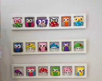 Wall decor bedroom kids original and personalized. Cool owls