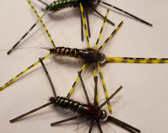 Winter stonefly nymph x3