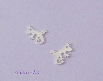 1 gecko lizard - Mini charm 11 mm / sterling silver