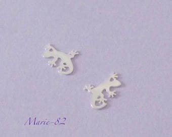 1 gecko lizard / Mini charm 11 mm - sterling silver