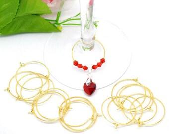 2 rings pr glass of wine/earring 29x25mm