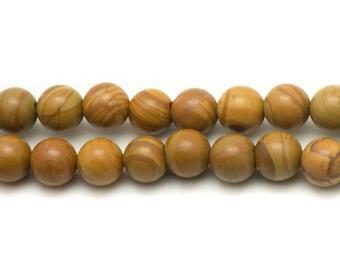 Stone - Jasper beads wooden balls 14mm - 4pc 4558550033390 bag