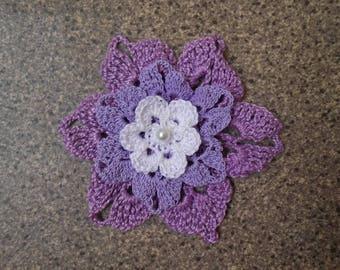 cotton violet flower crochet
