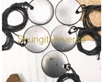 Shungite pendants 5 pcs,Sale.Shungite necklace, Shungite stone,EMF protection, Shungite wholesale, Reiki pendant, Shungite jewelry