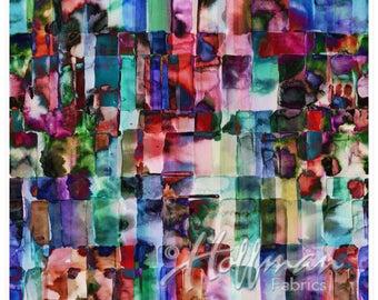 Jewel digital print from Hoffman Fabrics