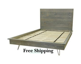 Hairpin Platform Bed, Platform Bed, Industrial Bed, Twin Bed, Twin XL Bed
