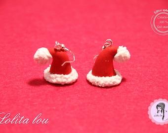 Beanies Christmas polymer clay earrings