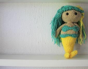 Crochet Mermaid - Handmade - MADE TO ORDER - Amigurumi Plushie