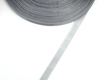 10 mm X 5 grey organza Ribbon meters