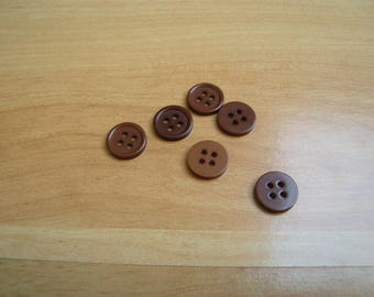 buttons plastic Brown edge shade round
