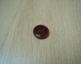 button shape round two tone Burgundy