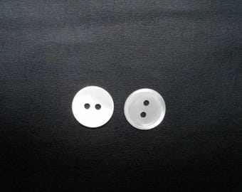 set of two large mother of Pearl buttons