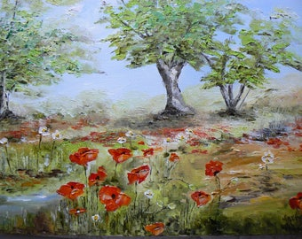 WALK AND THROUGH THE FIELD OF POPPIES
