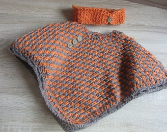 Cape and headband / ear warmer in size 3 months