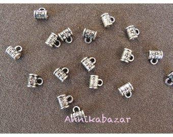 Set of 30 beads bails in Tibetan silver, diameter of 5.5 mm