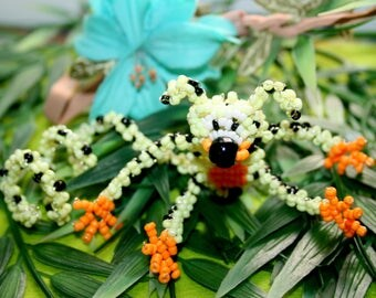 Animal beads: Marsupilami André Franquin seed beads