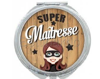 """Pocket mirror """"Super teacher"""""""