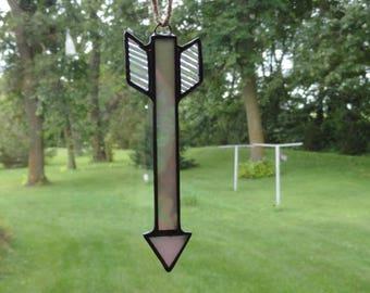 Stained Glass Arrow Suncatcher