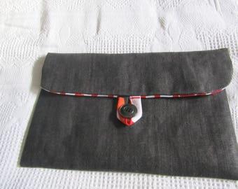 Hpusse de protection pour tablmette ( ipad) en toile jean noir