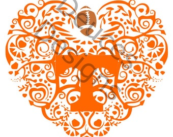 Tennessee Vols Ornate Heart (digital download)