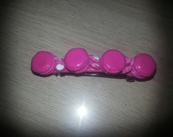 4 macaroons colors hair clip