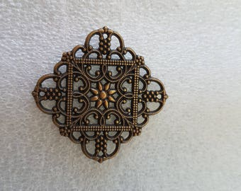 Bronze square print