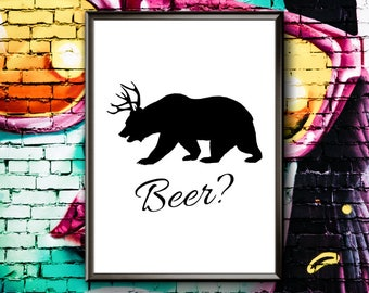 Beer Print | Bar Print | Beer Pun | Bar Poster | Beer Poster | Bar Wall Art | Beer Wall Art | Bar Printable Wall Art | Beer Printable