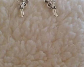 Silver Pistol earrings